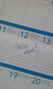 Koulut alkavat kalenteri 2